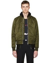 Paul Smith Ps By Green Nylon Bomber Jacket