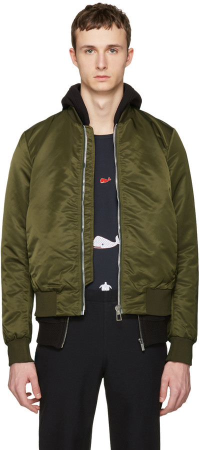 af8b26838 $395, Paul Smith Ps By Green Nylon Bomber Jacket