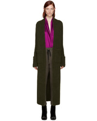 Haider Ackermann Green Long Mohair Cardigan