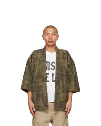 VISVIM Khaki Camo Sanjuro Kimono Jacket
