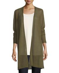 Sheer long cardigan w side slits plus size medium 4353550