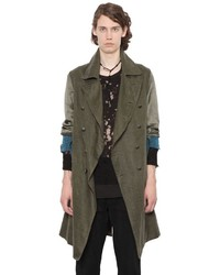 Ann Demeulemeester Double Breasted Waxed Linen Coat
