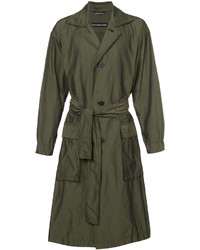 Issey Miyake Belted Single Breasted Coat