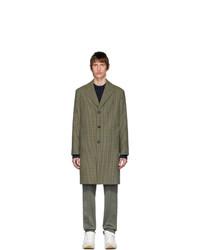 Acne Studios Brown Vichy Check Coat