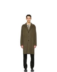 Acne Studios Khaki Wool Double Faced Coat