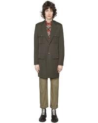 Maison Margiela Wool Cotton Military Coat