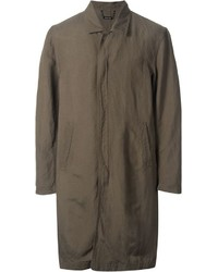 Monkey Time Front Zip Mid Length Military Coat