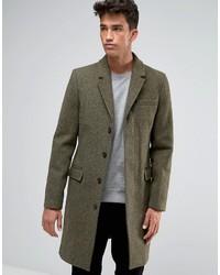 Overcoat made in the uk in dark green medium 849425