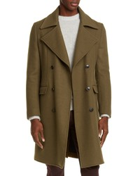 Eidos Trim Fit Wool Cashmere Double Breasted Coat