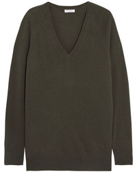 Equipment Asher Oversized Cashmere Sweater Green