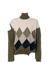 Erika Cavallini Distressed Roll Neck Sweater