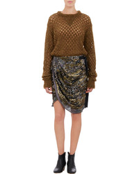 Isabel Marant Honeycomb Stitch Oversize Thomas Sweater
