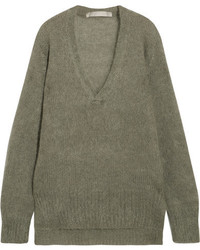 Dion Lee Oversized Mohair Blend Sweater Army Green