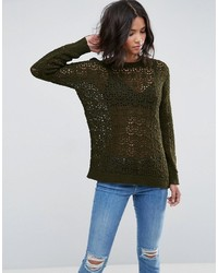 Asos Sweater In Crochet In Oversized Fit