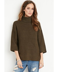 Forever 21 Textured Turtleneck Sweater