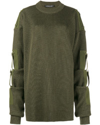 Y/Project Y Project Oversized Ribbed Sweater With Removable Sleeves