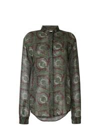 Saint Laurent Paisley Long Sleeve Shirt
