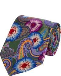 Olive Paisley Tie