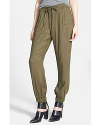 Lily white drawstring soft pants olive size x small x small medium 133823