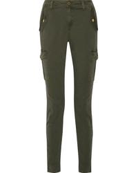 MICHAEL Michael Kors Michl Michl Kors Stretch Cotton Twill Straight Leg Pants Army Green