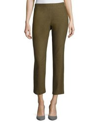 Eileen Fisher Washable Crepe Slim Leg Ankle Pants Plus Size