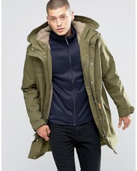 adidas Originals Quilt Parka In Green Ay9139