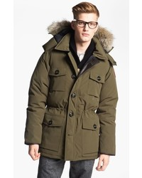 Banff slim fit parka with genuine coyote fur trim medium 664909