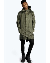 Fishtail parka mens boohoo