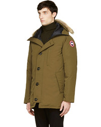 Canada Goose kids outlet official - Canada Goose Green Down Fur Chateau Parka | Where to buy & how to wear