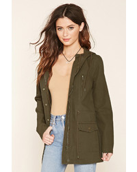 Forever 21 Canvas Drawstring Parka