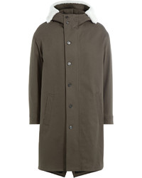 Neil Barrett Cotton Parka With Textured Hood