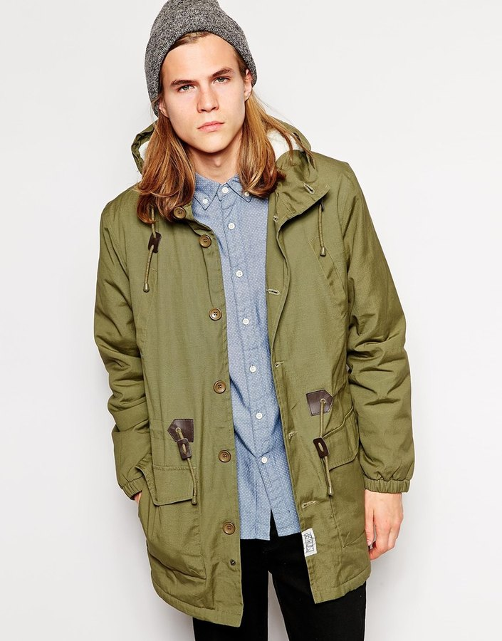 D Struct Parka Jacket With Sherpa Lining | Where to buy & how to wear