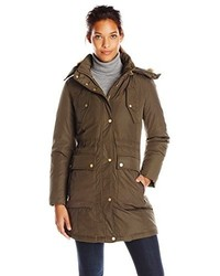Cole Haan Down Parka With Drawcord Details And Flap Pockets