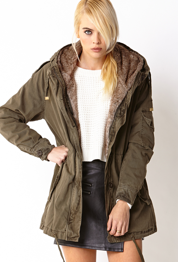 Forever 21 Faux Fur Lined Parka | Where to buy & how to wear