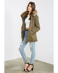Forever 21 Hooded Puff Parka