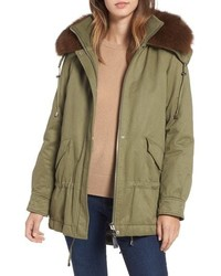 Derek Lam 10 Crosby Genuine Fox Hooded Parka