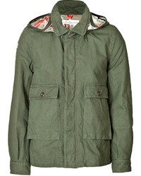 Golden Goose Deluxe Brand Golden Goose Cotton Parka With Hood In Military Greenflowers