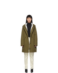 Yves Salomon Army Green Down Bachette Jacket