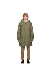 VISVIM Green Patterson Overcoat