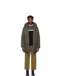 A.P.C. Green Tech Ctn Parka Coat