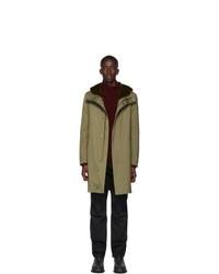 Yves Salomon Khaki Down Gabardine Jacket