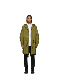Givenchy Khaki Military Address Fishtail Parka