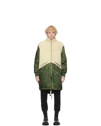 Givenchy Khaki Shearling Military Parka