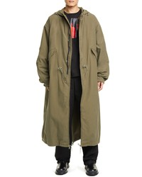 Raf Simons Long Hooded Parka With Removable