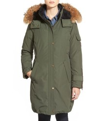 North shore genuine coyote fur trim down parka medium 353044