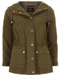 Dorothy Perkins Olive Hooded Short Parka Jacket