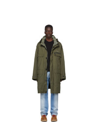Off-White Reversible Khaki Coverall Coat