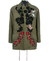 Rose patch parka medium 4414140