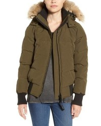 Canada Goose Savona Bomber Jacket With Genuine Coyote