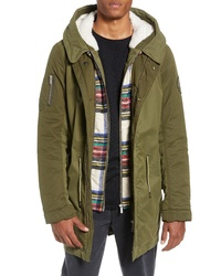 c0d15f75f6 Scotch   Soda Seasonal Parka With Removable Lining And Detachable Faux  Shearling Hood